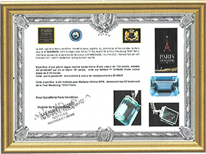 Certificat Paris Vendome